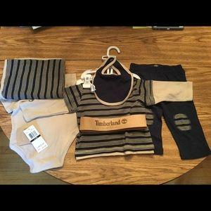 Timberland Matching Sets - Timberland 5p Set 6-9 months Boy Layette Bodysuit